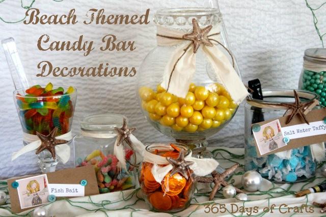 Beach Themed Candy Bar Decorations