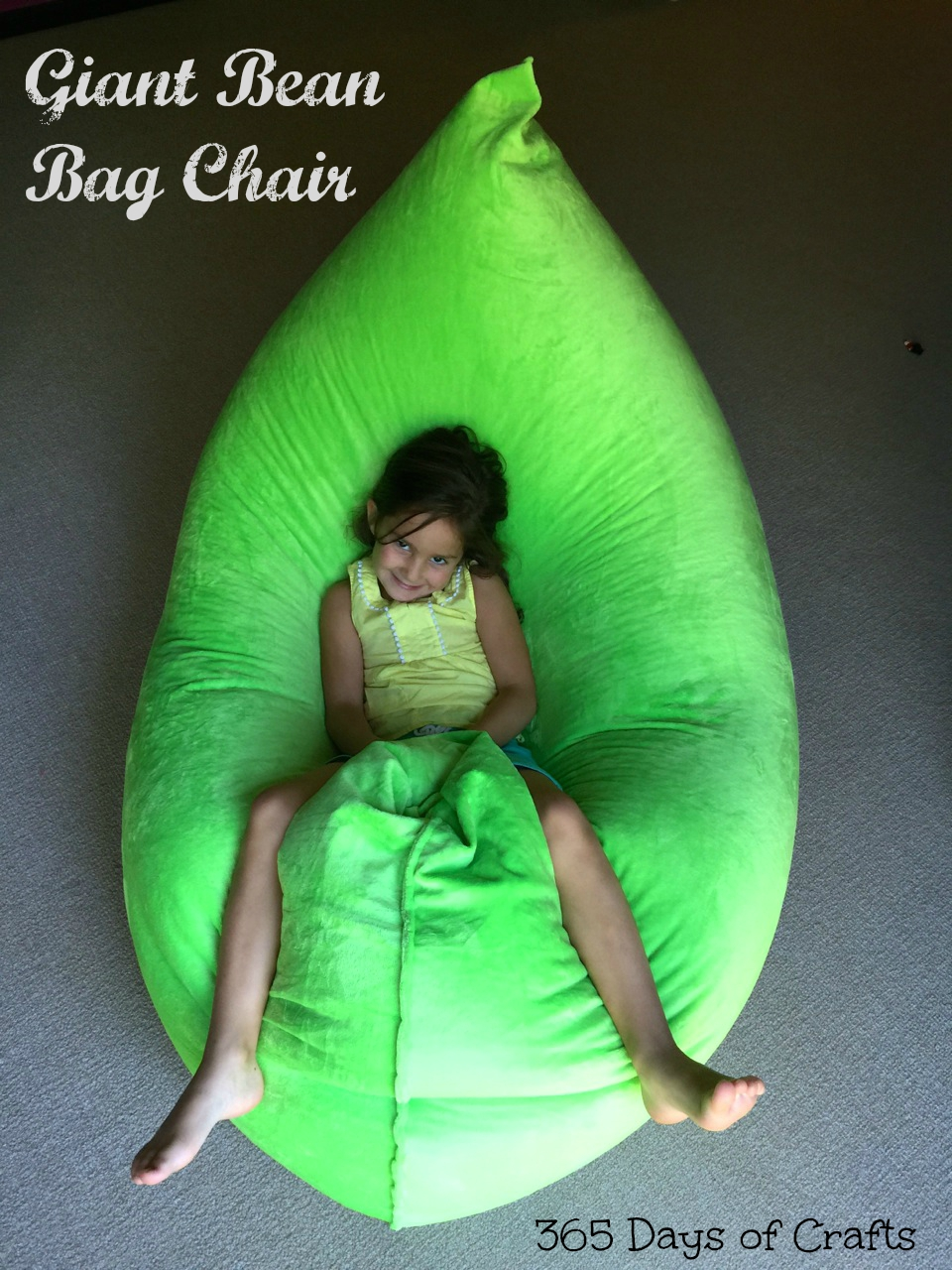 How to make bean bag chairs - Make A Fatboy Inspired Bean Bag Chair 365 Days Of Crafts Diy Art And Craft Inspiration For You And Your Home