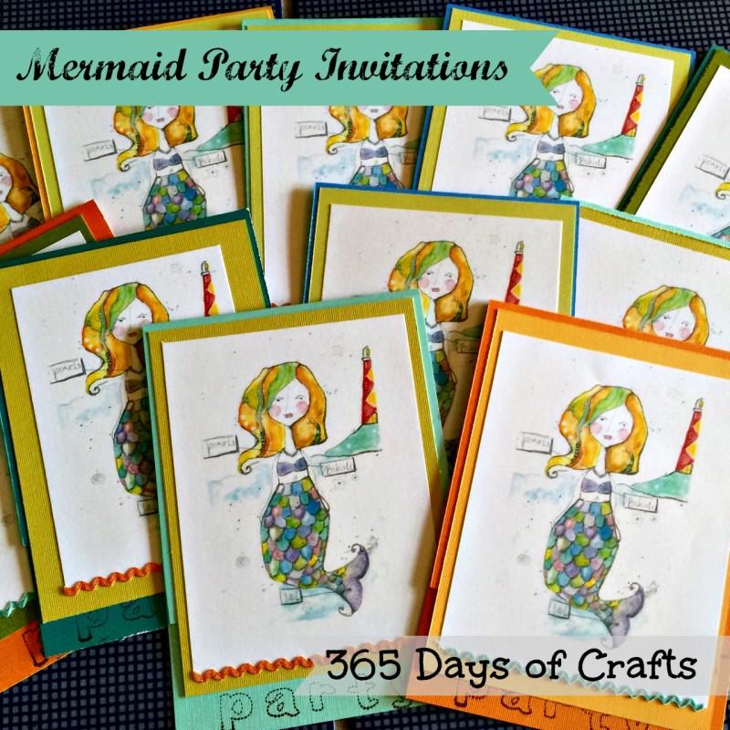 mermaid themed party invitations
