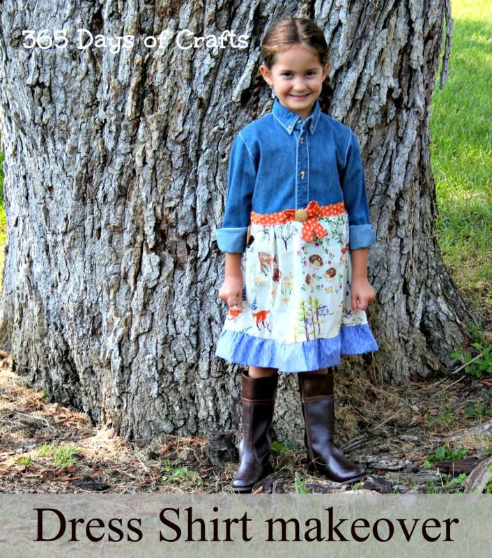 upcycled dress shirt Easy sew Dress