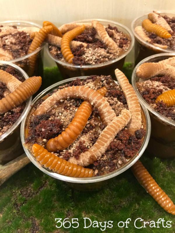 gummy worm dessert