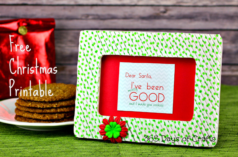 santa printable with cookies