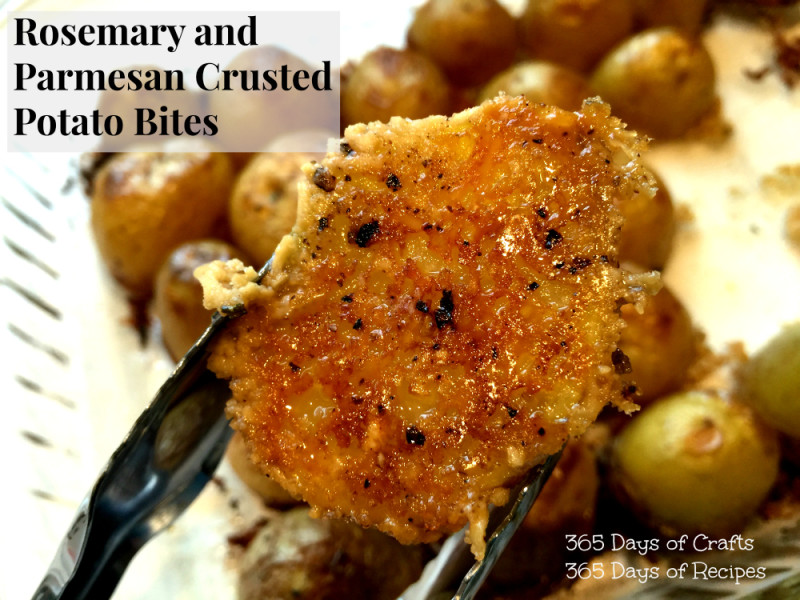 Rosemary and Parmesan Crusted potato bites