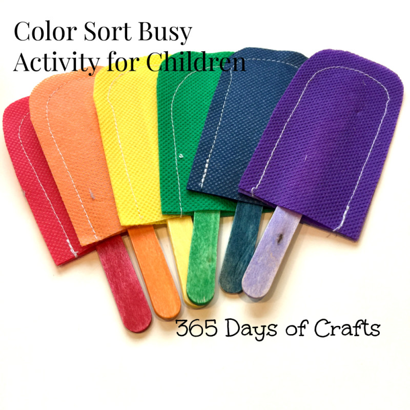color sort busy activity 365 days of crafts
