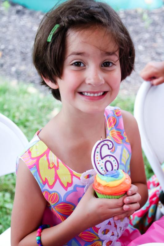 6th birthday party ideas rainbow unicorn cupcakes