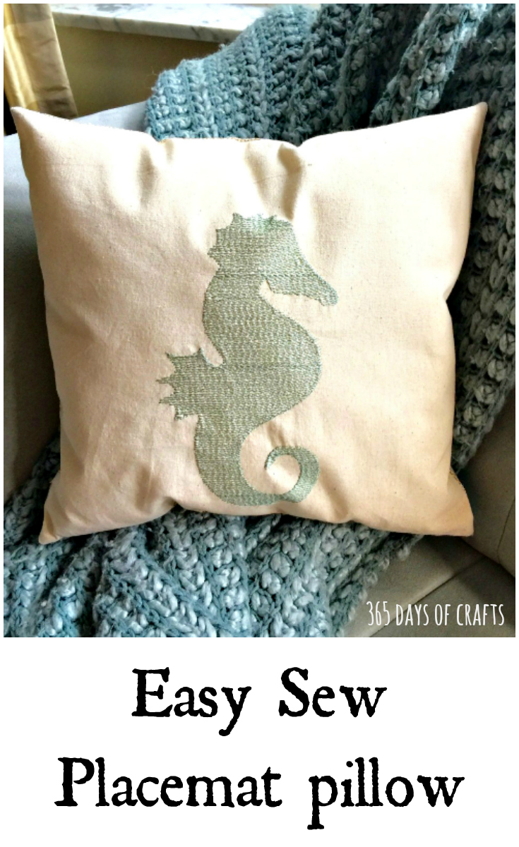 Placemat Pillow Simple Sewing 365 Days Of Crafts