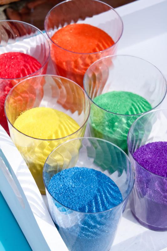 rainbow sand art sand for a little girl rainbow unicorn party