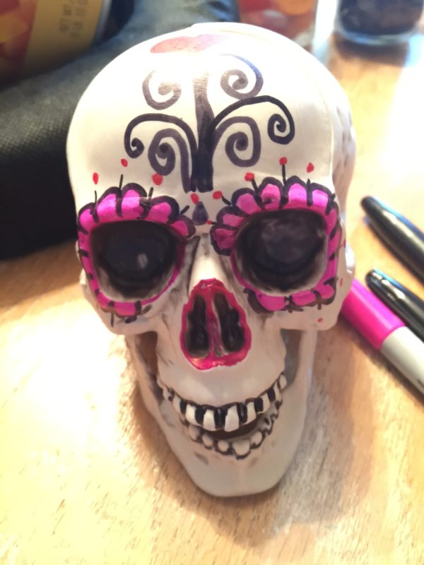sharpie marker sugar skull idea