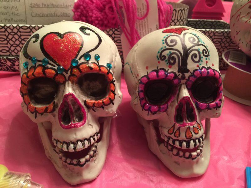 diy sugar skull decorations