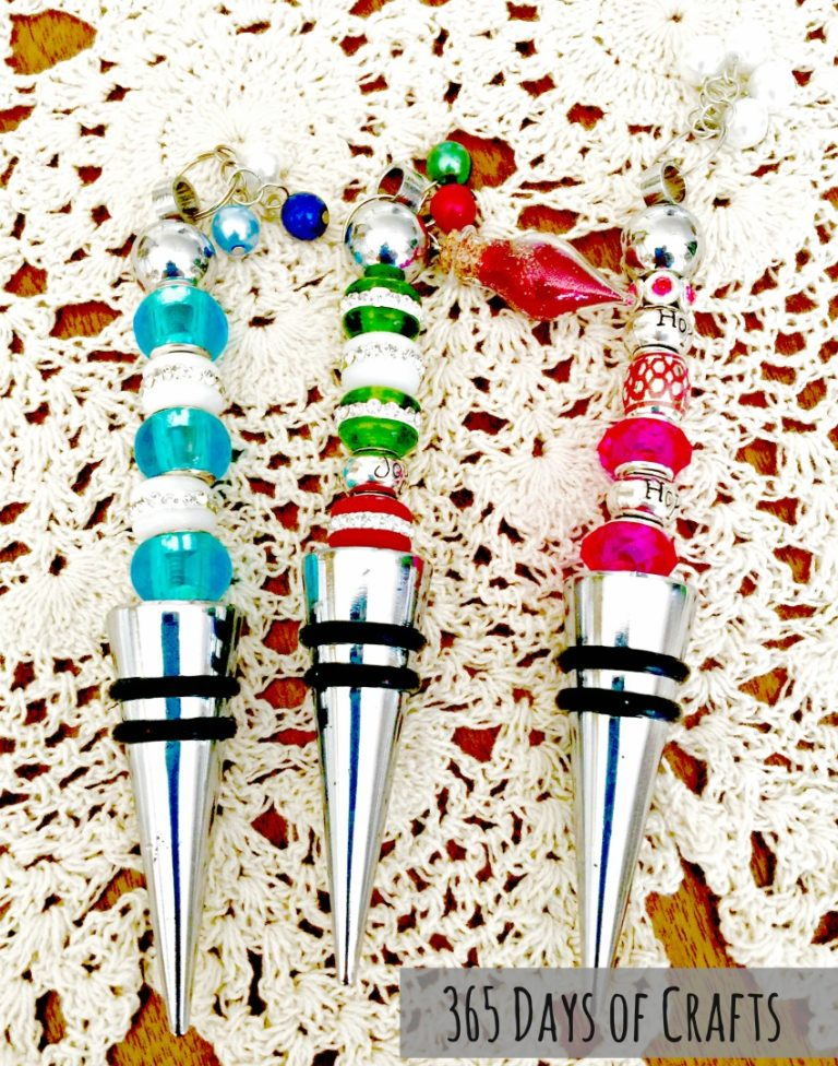 DIY Beaded Wine Stoppers for any holiday - great handmade gift idea by Niki Meiners