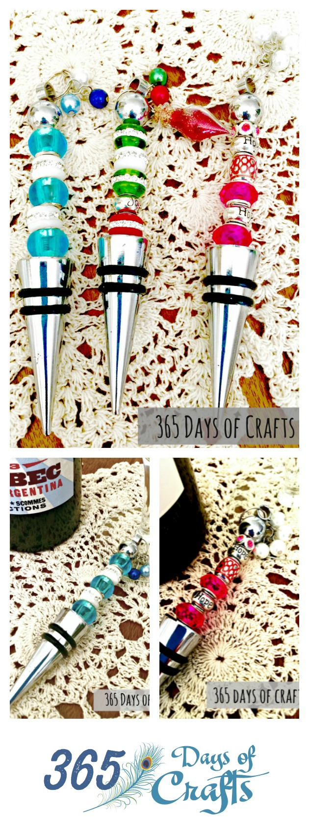 handmade diy beaded wine stoppers craft gift idea