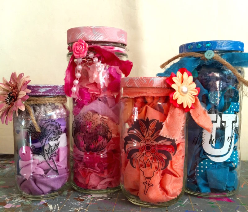 mason jar craft ideas you can make and use up your stash