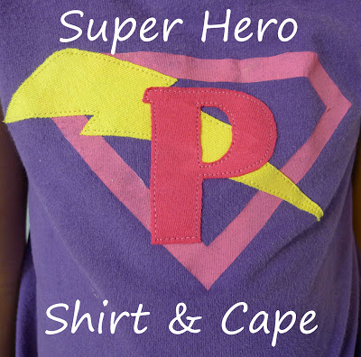 13 - Pieces by Polly - Superhero Shirt and Cape